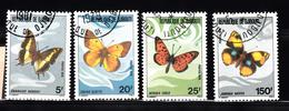 Djibouti 1978 Mi Nr  212 - 215 , Vlinder, Butterfly - Djibouti (1977-...)