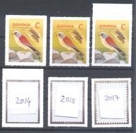 Fauna Birds 2014 And 2015 & 2017 REPRINT DIFFERENT PERFORATION: Falcon Falke Faucon Lesser Kestrel (Falco Naumanni) - Oiseaux