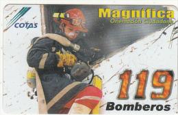 BOLIVIA - 119 Bomberos, Cotas Telecard 6 Bs., 07/03, Used - Bolivia