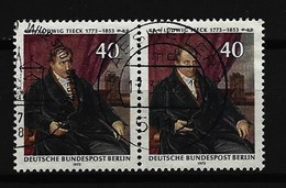 BERLIN - Mi-Nr. 452 Im Paar Ludwig Tieck Gestempelt - Gebraucht