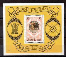 SAINTE LUCIE  Timbre Neuf ** De 1981 ( Ref 5460 ) Mariage Royal - St.Lucia (1979-...)