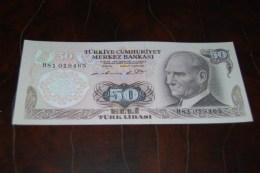 1976  Türkei 50 Lira  / 6. Emisyon 1. Tertip Serie : H / UNC - Turkey