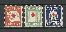 FINLAND FINNLAND 1939 Michel 158 - 160 MNH - Finland