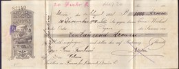 HUNGARY - CROATIA - OSZTRAK MAGYAR BANK CHECK  FIUME - SHIP  TRAIN - 1908 - Cheques & Traveler's Cheques