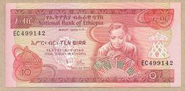 ETHIOPIA 10 BIRR (1976) P32a AUNC+ - Ethiopie
