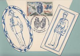 Carte  Maximum   Centenaire  De  La   GENDARMERIE   DOMBLANS  1984 - Police - Gendarmerie