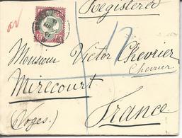 De Londres  >> Mirecourt  Registered Letter 1901 - 1840-1901 (Victoria)