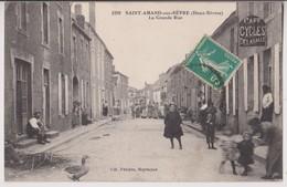 SAINT AMAND SUR SEVRE (79) : LA GRANDE RUE - CAFE CYCLES DELASALLE - ECRITE EN 1914 - 2 SCANS - - France