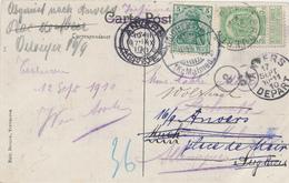 ZZ850 - Carte-Vue TP Armoiries TERVUEREN 1910 Vers CANTONS DE L'EST Et Réexpédiée TP Germania ROCHERATH Kr. MALMEDY - 1893-1907 Armoiries