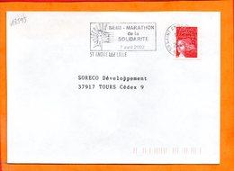 NORD, St André Lès Lille, Flamme SCOTEM N° 18593, Semi-marathon De La Solidarité, 7 Avril 2002 - Marcofilie (Brieven)