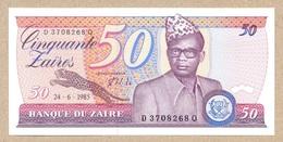 CONGO / Zaire 50 Zaire 1985 P28b  UNC - Zaïre