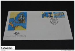 Grichenland  1992  FDC  Mi. 1802 - 1803   /   Europa: 500. Jahrestag Der Endekung Von Amerika        (T - 106 ) - FDC