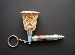 1960s Vintage Russia USSR Tobacco Pipe Keychain - Pipes & Accessoires