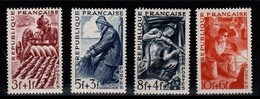 YV 823 à 826 N* (trace) Complete Les Metiers Cote 3 Eur - France