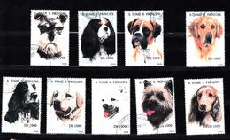 Sao Tome En Principe 1995 Mi Nr 1571 - 1579. Honden, Dog - Sao Tome En Principe