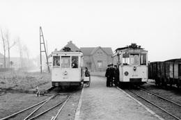 Bois-Seigneur-Isaac. SNCV Brabant. Cliché Jacques Bazin. 11-12-1954 - Trains