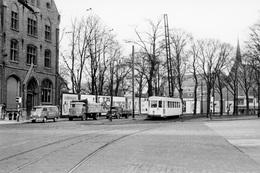 Ganshoren (Basilique). SNCV Brabant. Cliché Jacques Bazin. 31-01-1958 - Trains