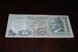 1979  Türkei 100 Lira  / 6. Emisyon 2. Tertip Serie : G / UNC - Turkey