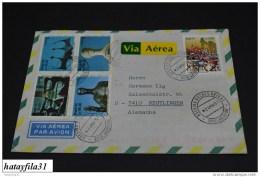 Luftpost Brief  1991 Gelaufen Brasilien Nach Deutschland     (  T - 85 ) - Airmail
