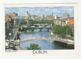 2011 IRELAND COVER (postcard DUBLIN View) To GB Flower Stamps - Covers & Documents