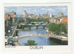2011 IRELAND COVER (postcard DUBLIN View) To GB Flower Stamps - 1949-... Repubblica D'Irlanda