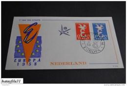 Niederlande   Europa - CEPT   1958   Mi. 718 - 719         ( 103 ) - Europa-CEPT