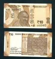 INDIA  -  2017  10 Rupees  UNC  Banknote - India