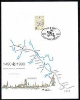Belg. 1990 - FDC 2350 Mechelen 21-06-1990 Paul Geerts (2 Scans) - Cartes Souvenir