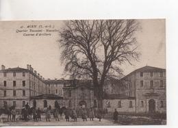 Cpa.47.Agen.Quartier Toussaint.Nouvelles Casernes D'Artillerie.animé Soldats - Agen