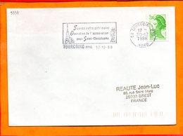 NORD, Tourcoing, Flamme SCOTEM N° 9737, Sauvez Votre Patrimoine, Opération Saint Christophe - Oblitérations Mécaniques (flammes)