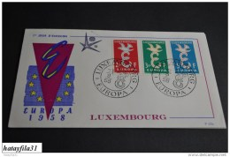 Luxemburg     Europa - CEPT   1958    Mi. 590 - 592    ( 103 ) - Europa-CEPT