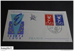 Frankreich   Europa - CEPT   1958    Mi. 1210 - 1211    ( 103 ) - Europa-CEPT