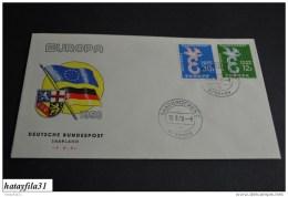 Deutschland  ( BRD Saarland  )   Europa - CEPT   1958    Mi. 439 - 440      ( 103 ) - Europa-CEPT