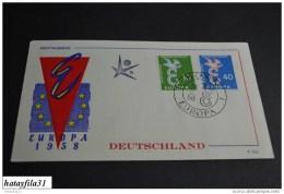Deutschland      Europa - CEPT   1958    Mi. 295 - 296    ( 103 ) - Europa-CEPT