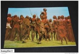 Kenya  _ Masai Dancers    /    Gelaufen     ( 91) - Kenia