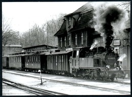 B5123 - Göhren - Bahnhof Eisenbahn Schmalspurbahn Dampflok Lokomotive - Eisenbahnen