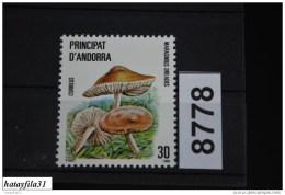 Andorra ( Spanisch ) 1986 - Mi. 187 ** Postfrisch / Pilze - Unused Stamps