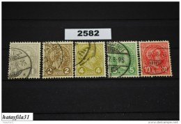 Luxemburg 1895 - Mi. 67 - 71 - Gestempelt - 1895 Adolphe Right-hand Side