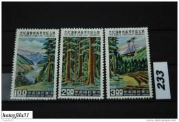 Taiwan 1960 - Mi. 372 A - 374 A ** Postfrisch - Ongebruikt
