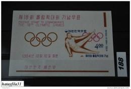 Korea - Süd 1964 - Bl. 197** Postfrisch /Olymp. Sommerspiele , Tokyo - Korea (...-1945)