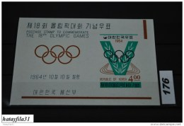 Korea - Süd 1964 - Bl. 194** Postfrisch /Olymp. Sommerspiele , Tokyo - Korea (...-1945)