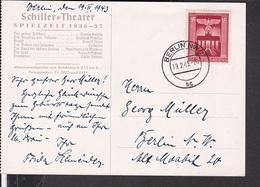 """Postkarte Schiller Theater Berlin """" Der Richter Von Zalamea """"  1943 - Deutschland"""