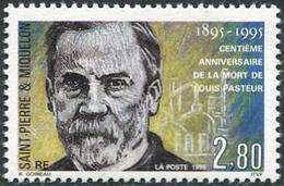 St. Pierre Et Miquelon 1995. Michel #687 MNH/Luxe. 100th Anniversary Of The Death Of Louis Pasteur. (L38) - Louis Pasteur