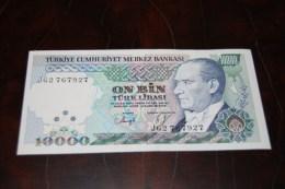 1993 Türkei 10,000  Lira  / 7. Emisyon 4. Tertip Serie : J  / UNC - Turkey