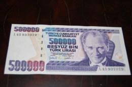 1997 Türkei 500,000  Lira  / 7. Emisyon 4. Tertip Serie : L  / UNC - Turquie