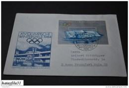 DDR  1983  Gelaufene  FDC  Block  74     /  Olympisches Zentrum  Sarajevo  ( T - 87 ) - FDC: Enveloppes