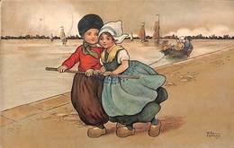 Thème Hollande, Chemin De Halage, Colorisée, Animée, Timbres Censure 1917 - Hardy, Florence