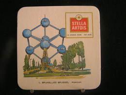 Stella Artois - Sous Bock / Bierviltjes / Coasters, 1 - Bruxelles Brussel - Atomium - Sous-bocks