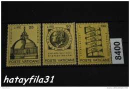 Vatikanstadt  1972  Mi. 596 - 598 ** Postfrisch /   Bramante - Vatican