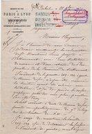 VP12.688 - CORBEIL 1867 - Lettre De La Cie Des Chemins De Fer De PARIS à LYON ....Concernant Mr MARCHAND De BALLANCOURT - Chemin De Fer